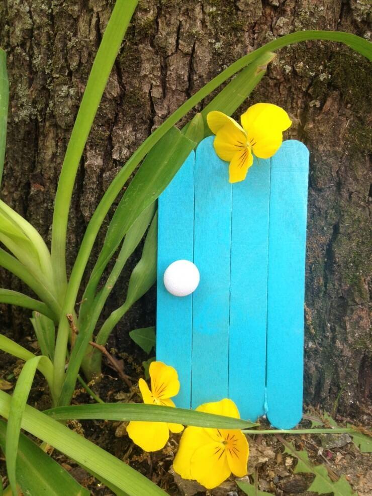 Bright Blue Fairy Door Art Project