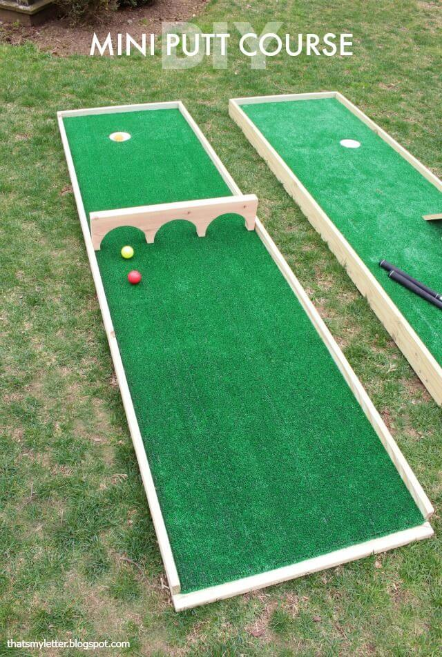 Backyard Miniature Golf Course
