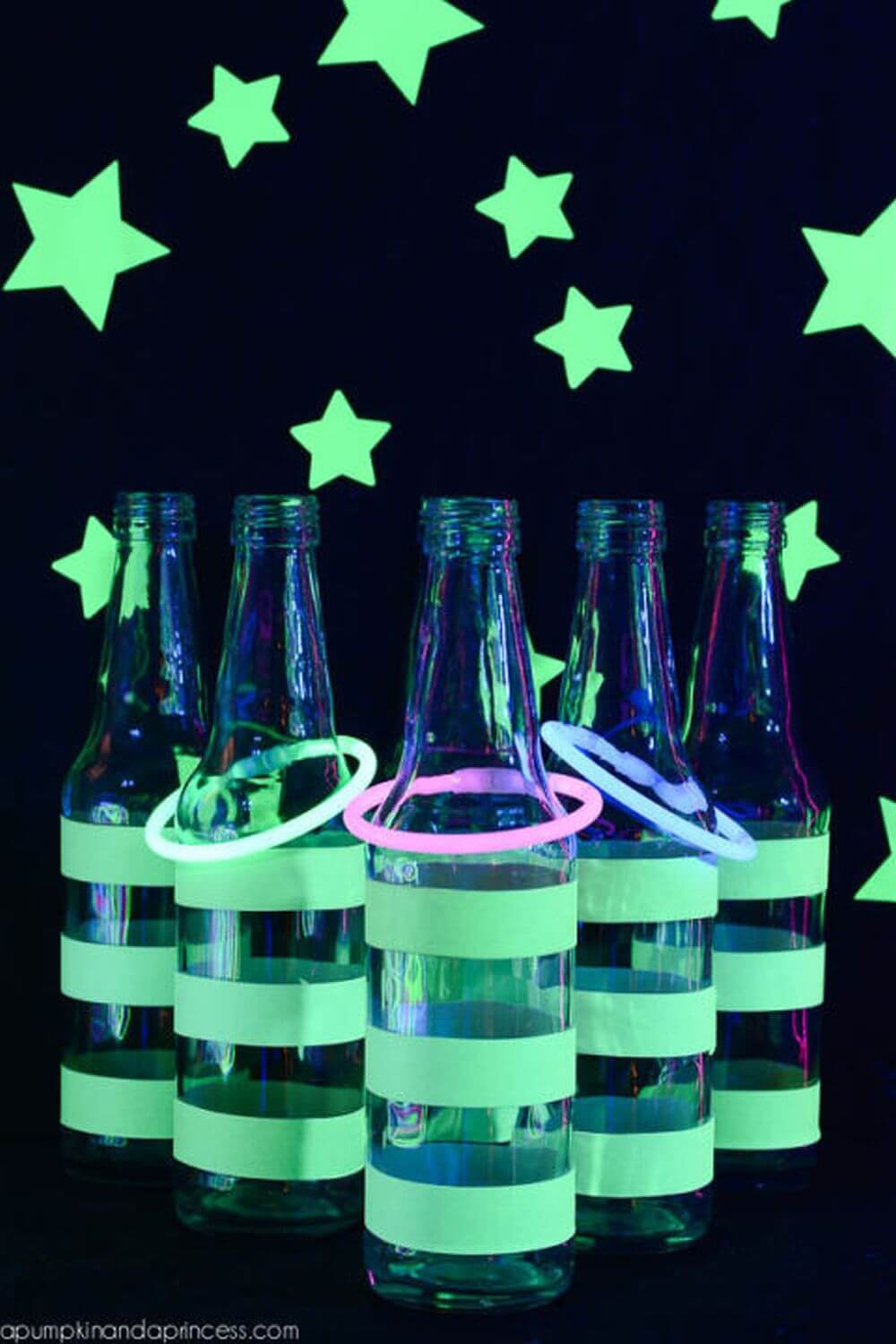 Glow Tape, Stars, and Sticks for a New Twist on Ring Toss