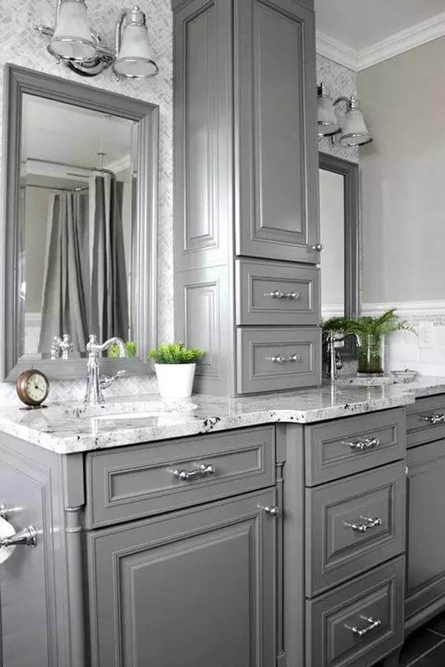 Delicieux Soothing Gray Bathroom