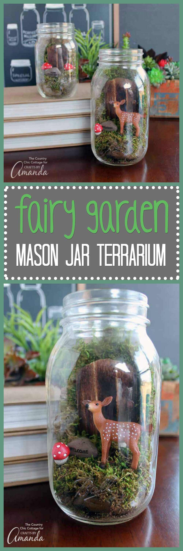 Fairyland Mason Jar Terrarium