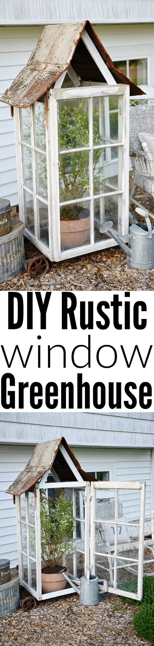 A Single- Sized Rustic Green House For Plants