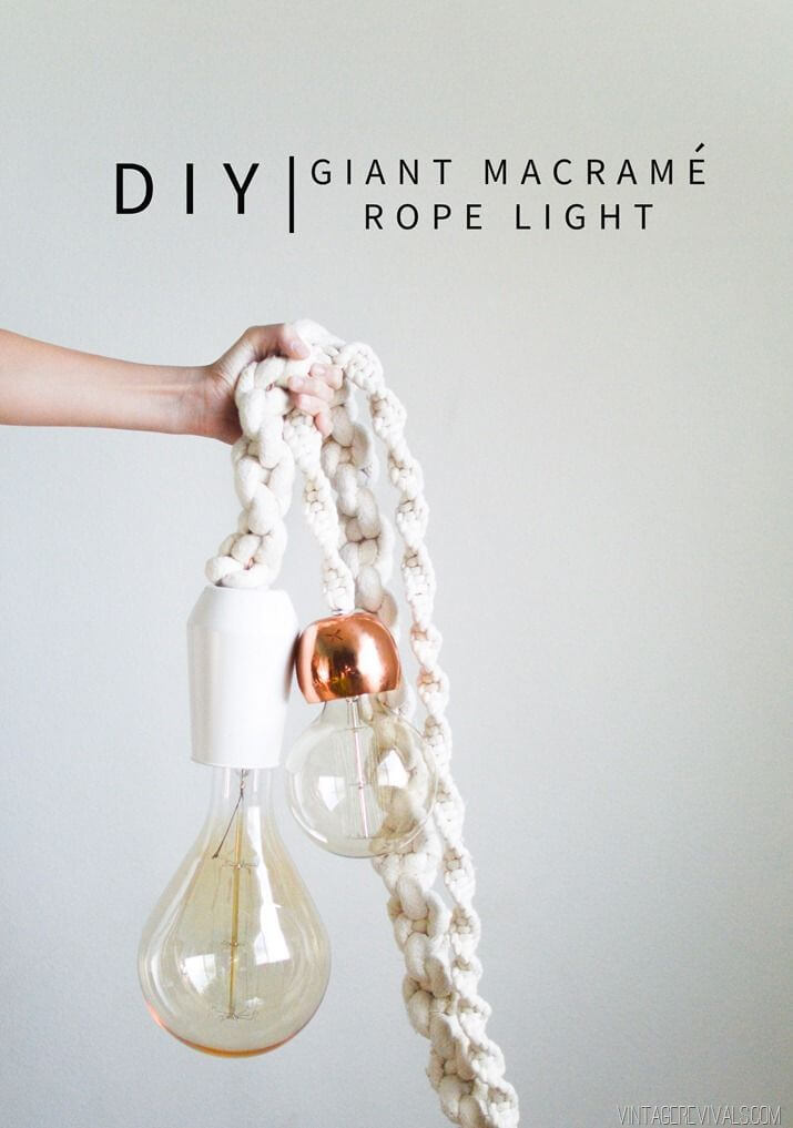 Giant Rope Lighting DIY Project Ideas