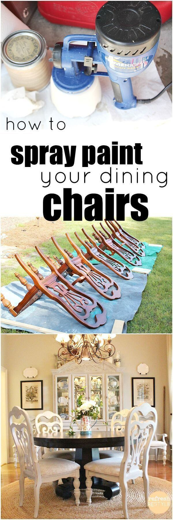 Spray-Painted-Anew Furniture Makeover Ideas