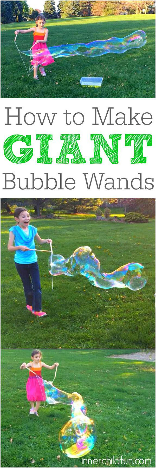 Fun Summertime Giant Bubble Wands