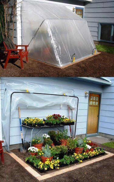 A Garden Space with a Fold-Away Top