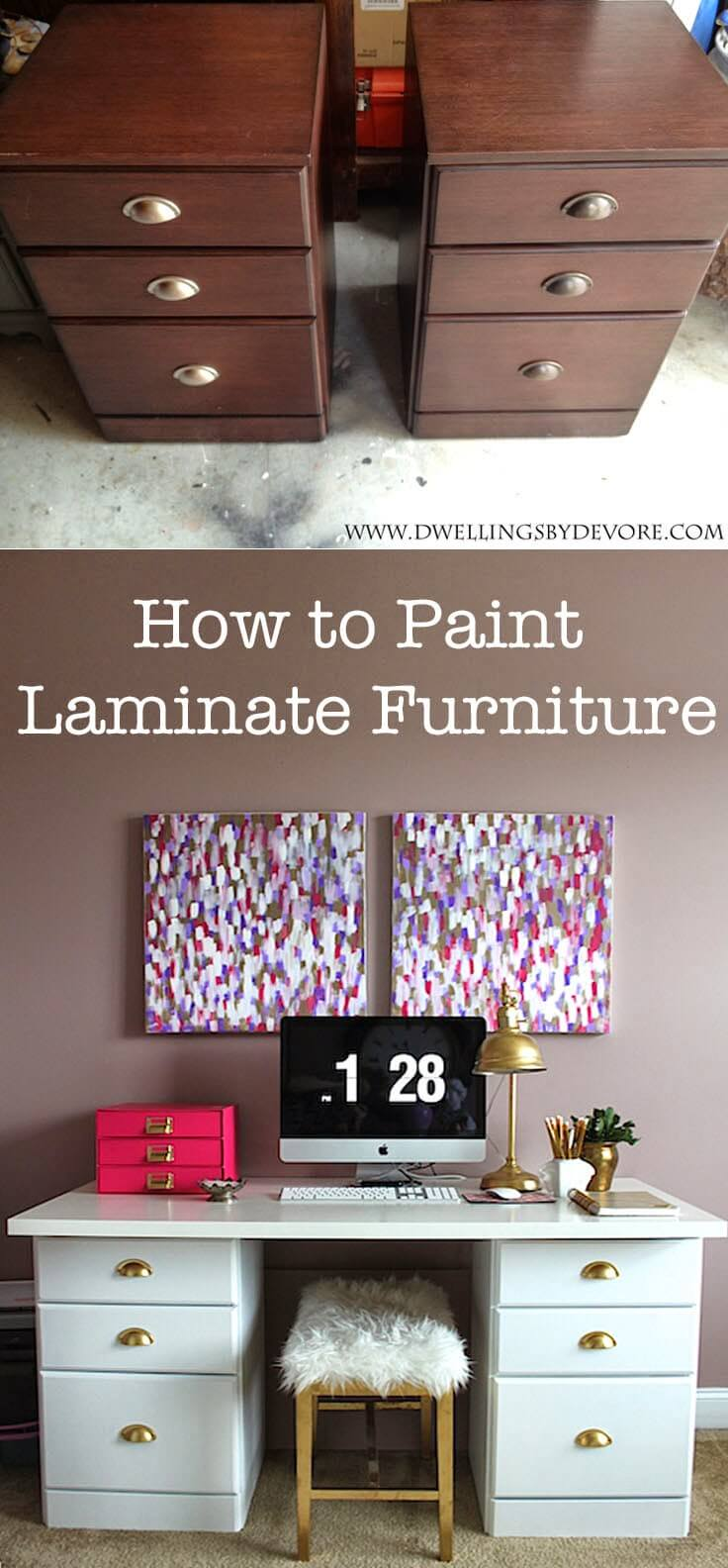 Lusciously Repainted Laminate Desk Set