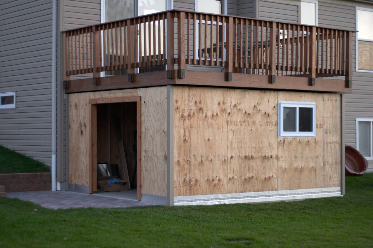 A Storage Space Designed Under the Patio
