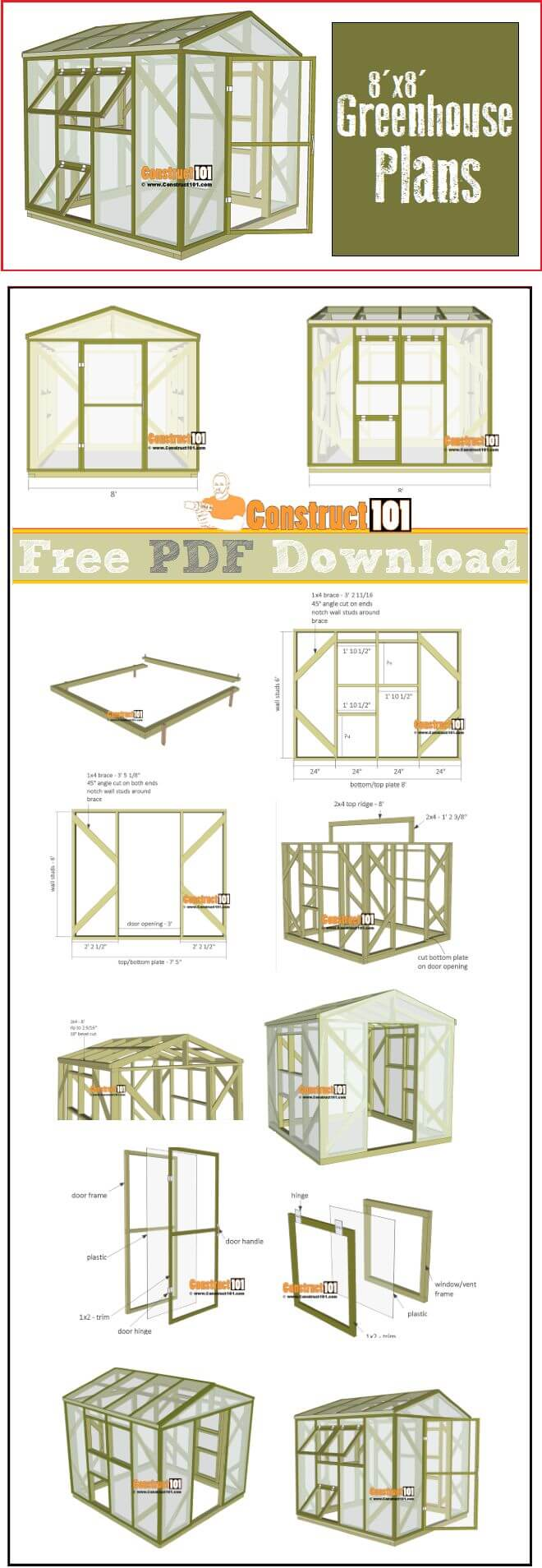 Step-By–Step Plans for a DIY Green House