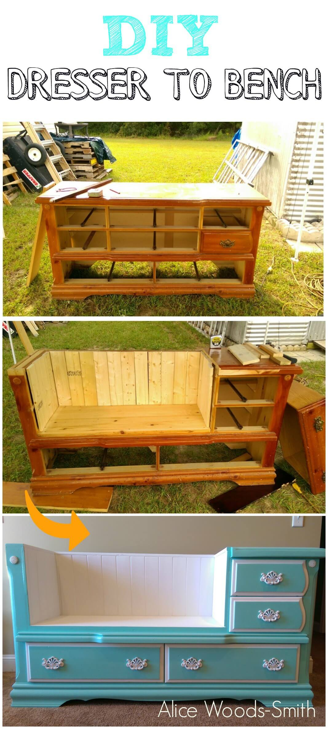 Revisioned Dresser Nook Bench