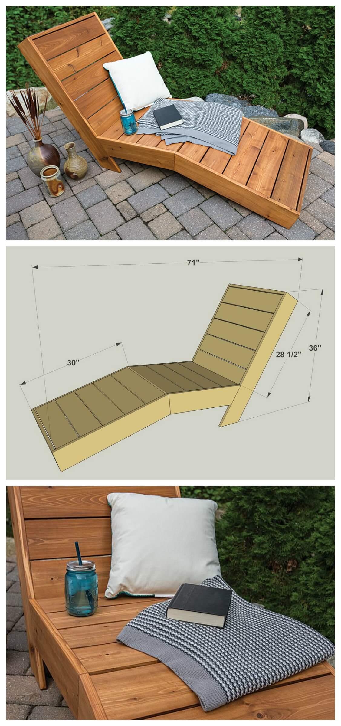 Summertime Wooden Cabana Lounge Chair