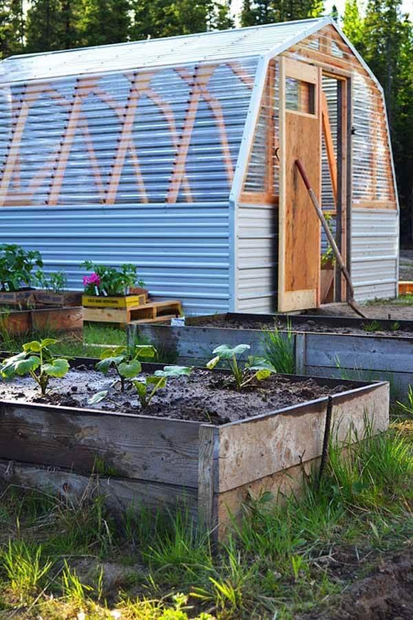 An Indoor Garden With Exterior Gardening Space