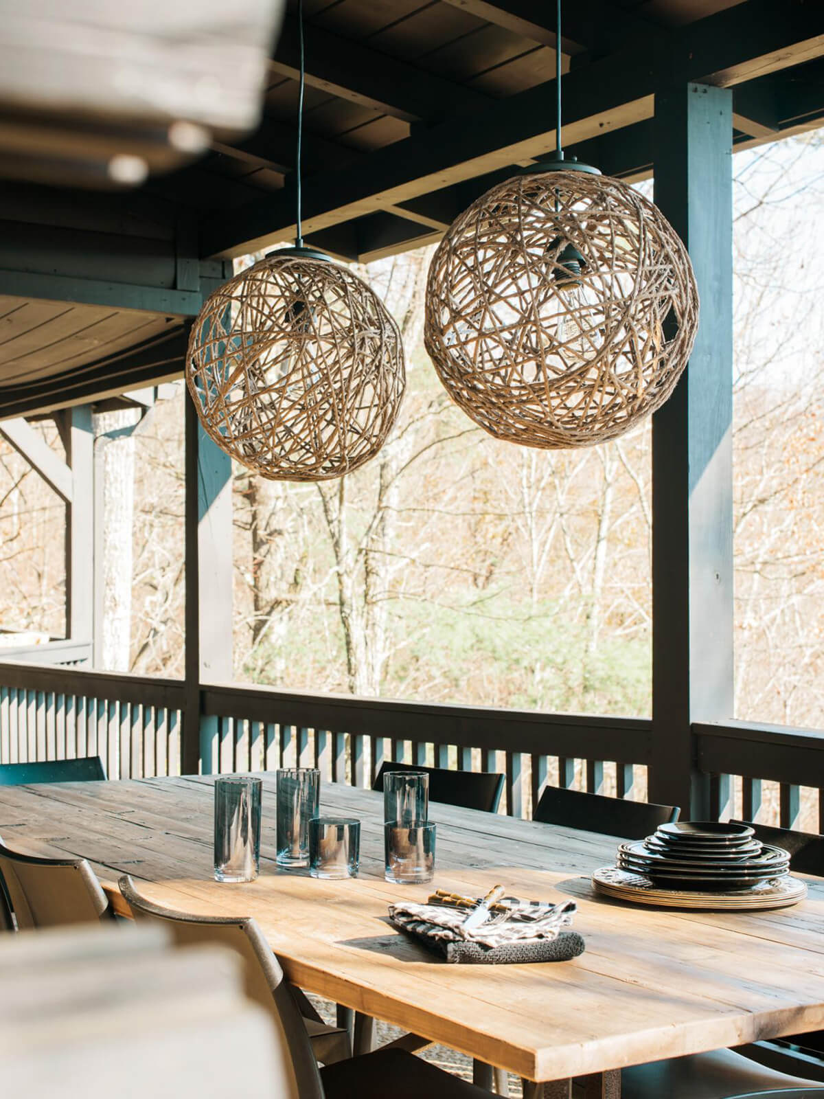 DIY Light Fixtures Crafted from Rope