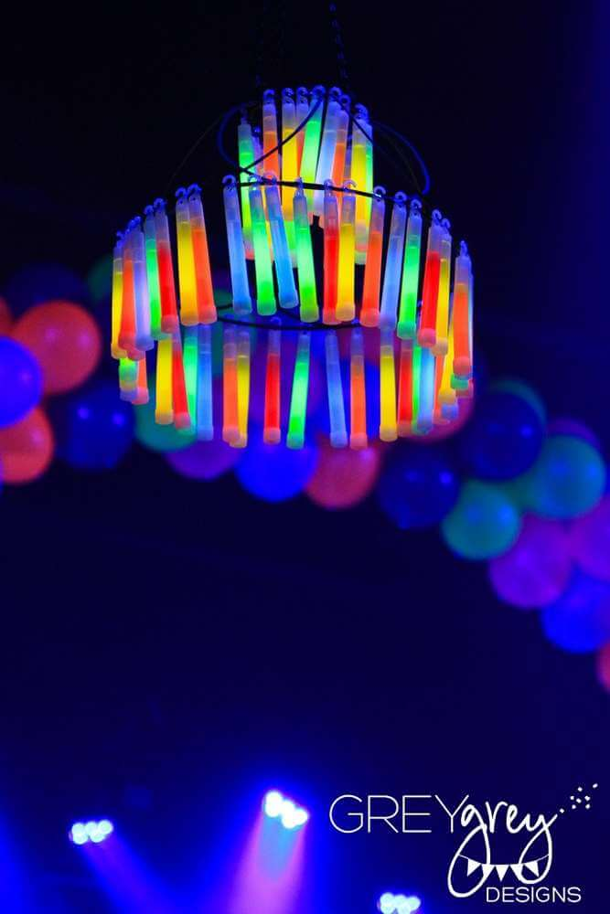 Create a Glow Stick Chandelier or Two for Seriously Trippy Lighting