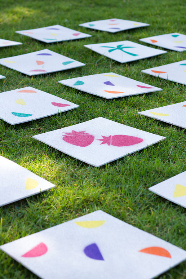 Matching Tiles DIY Backyard Games