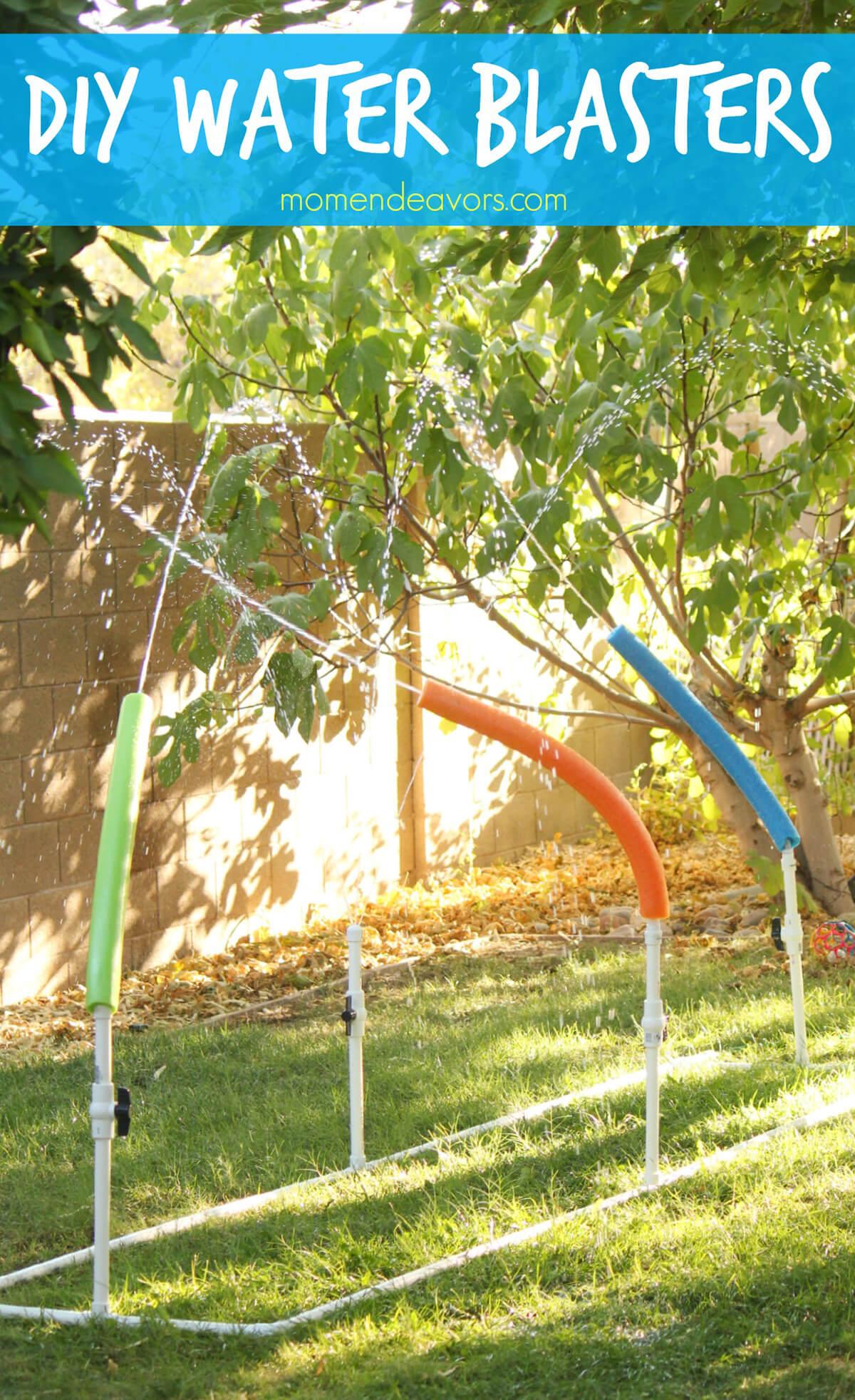 Wild and Wiggly Pool-Noodle Sprinkler Setup