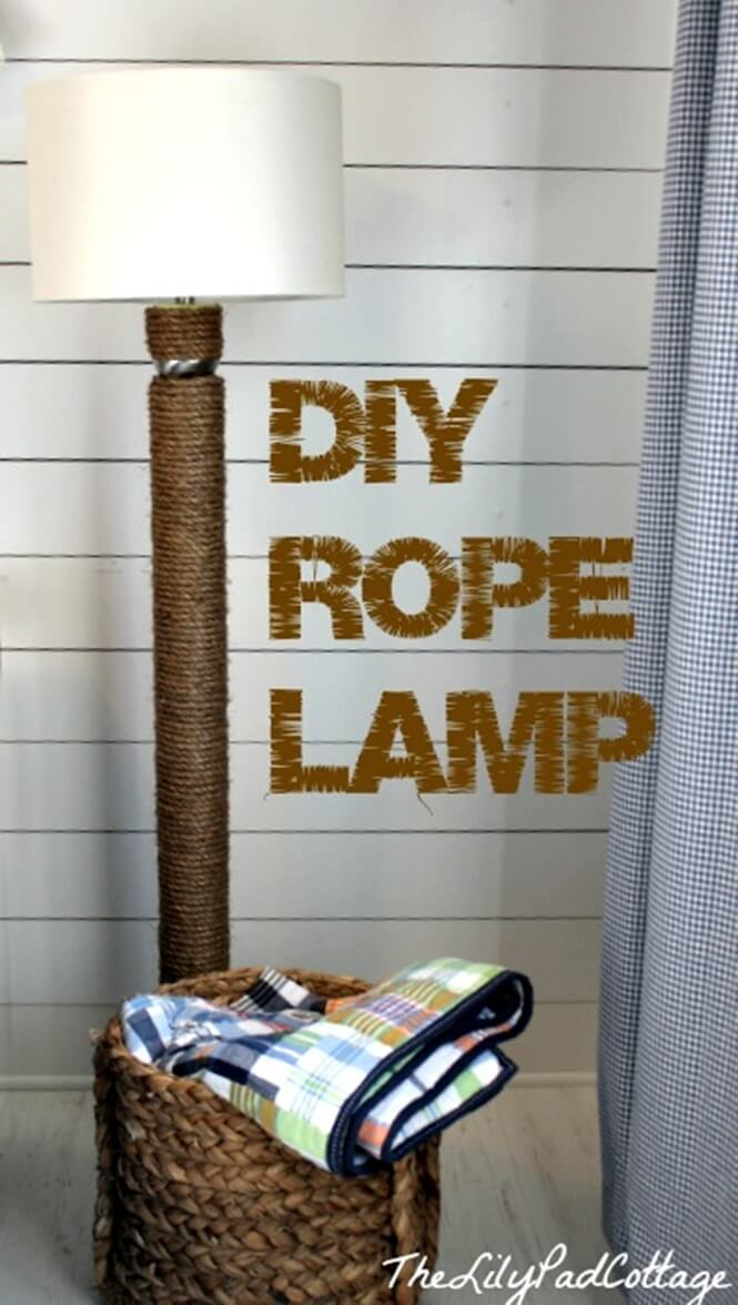 A Stylish Rope Lamp for the Bedroom