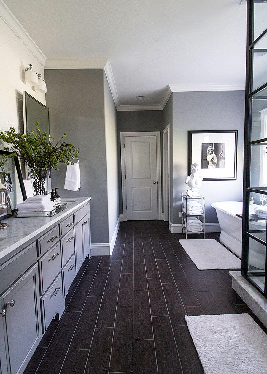 Formal with a Masculine Touch Bathroom