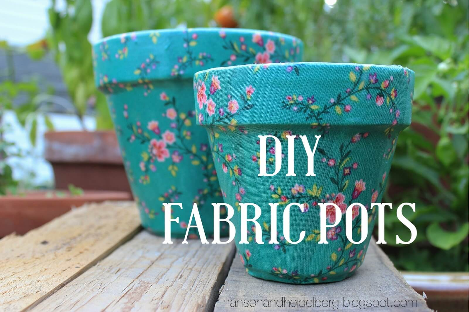 DIY Fabric Covered Terracotta Pots