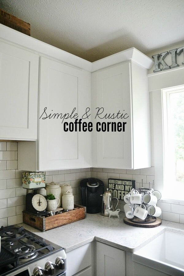 A Corner with All Your Coffee Needs