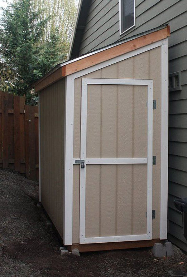 27 best small storage shed projects ideas and designs for Side of the house storage shed