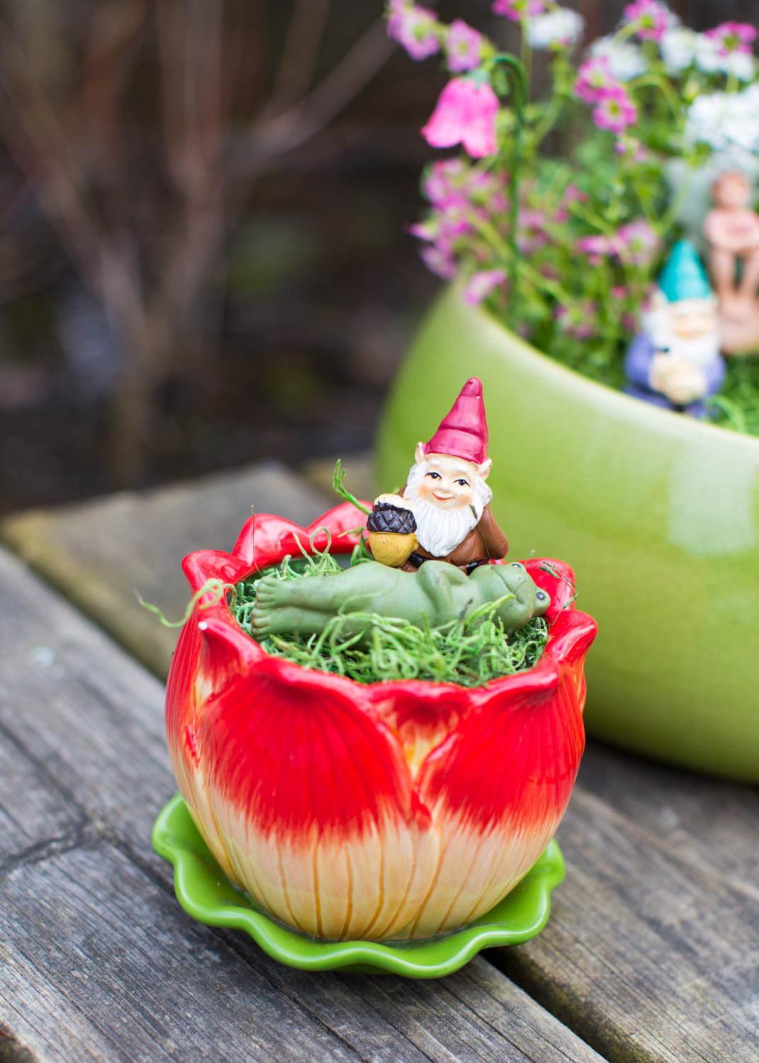 Fairy Tea Cup Garden Ornament