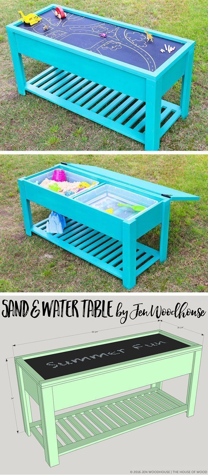 Pastel Table with Sand and Water Stations