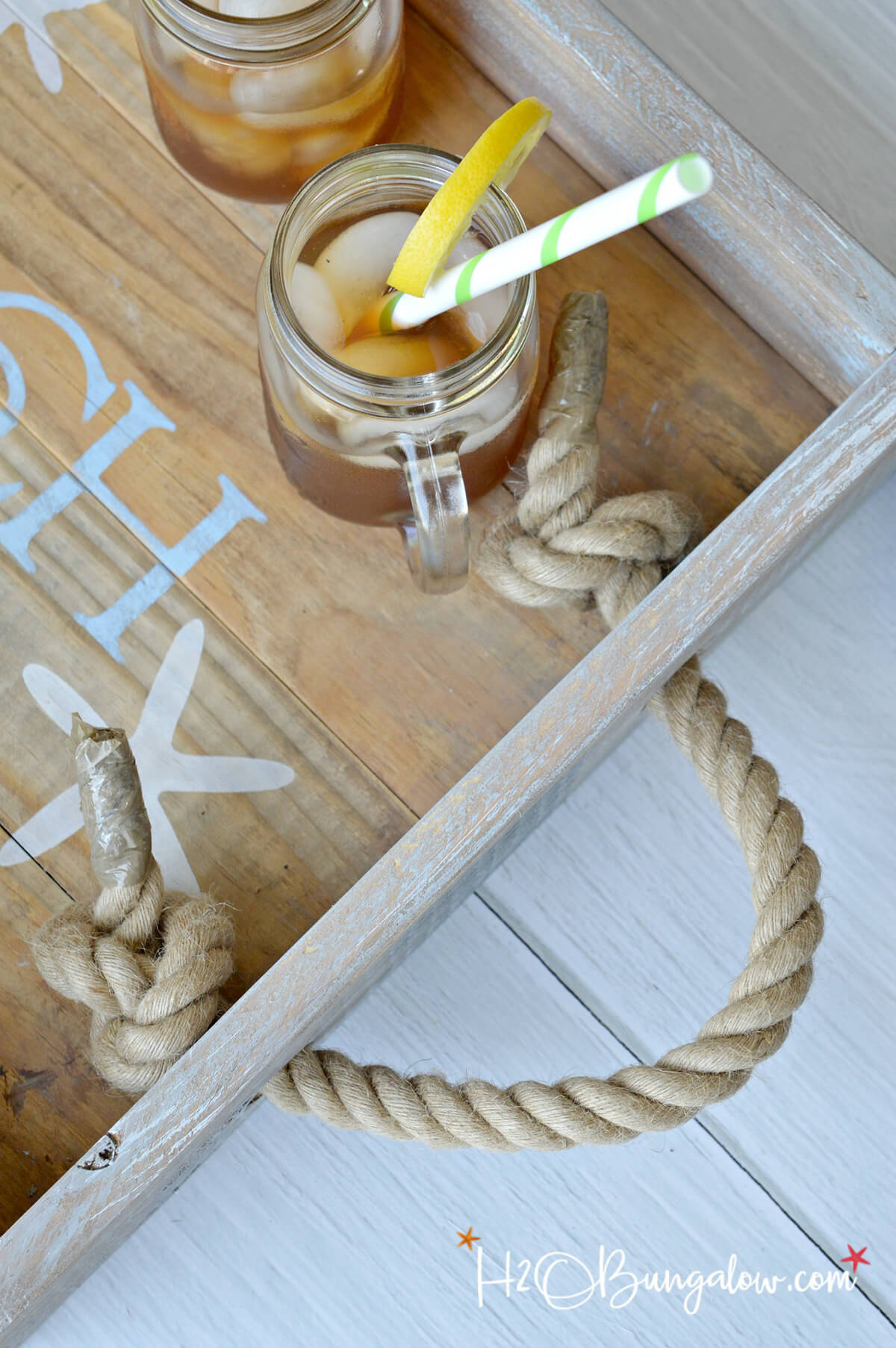 A Breakfast Tray with Rope Handles