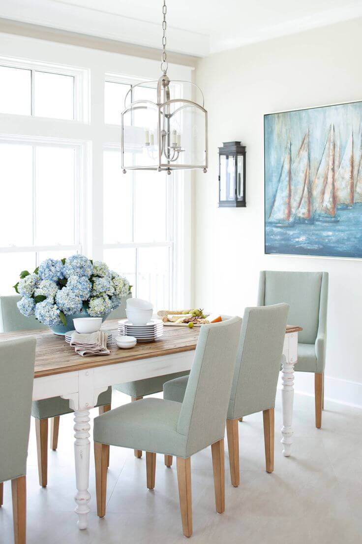 A Dining Setting with an Ocean View
