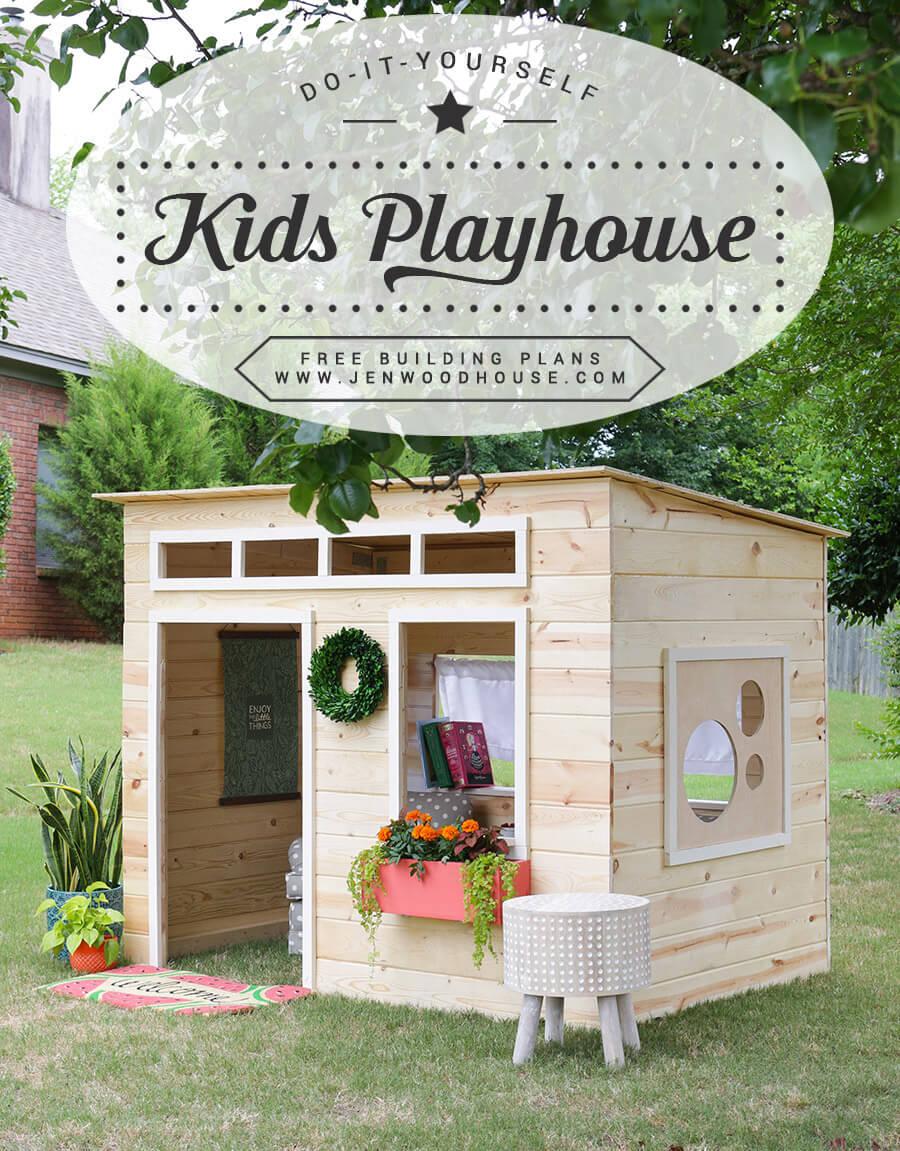 A Miniature Playhouse with Windows