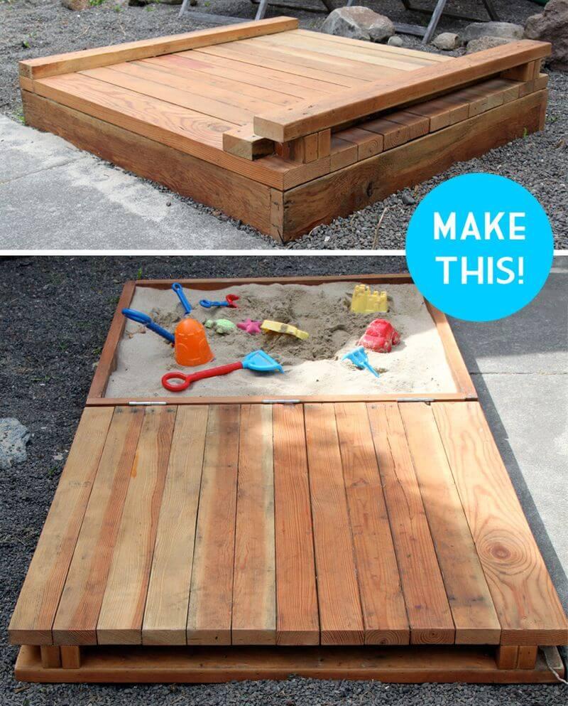 A Sandbox with a Wooden Lid