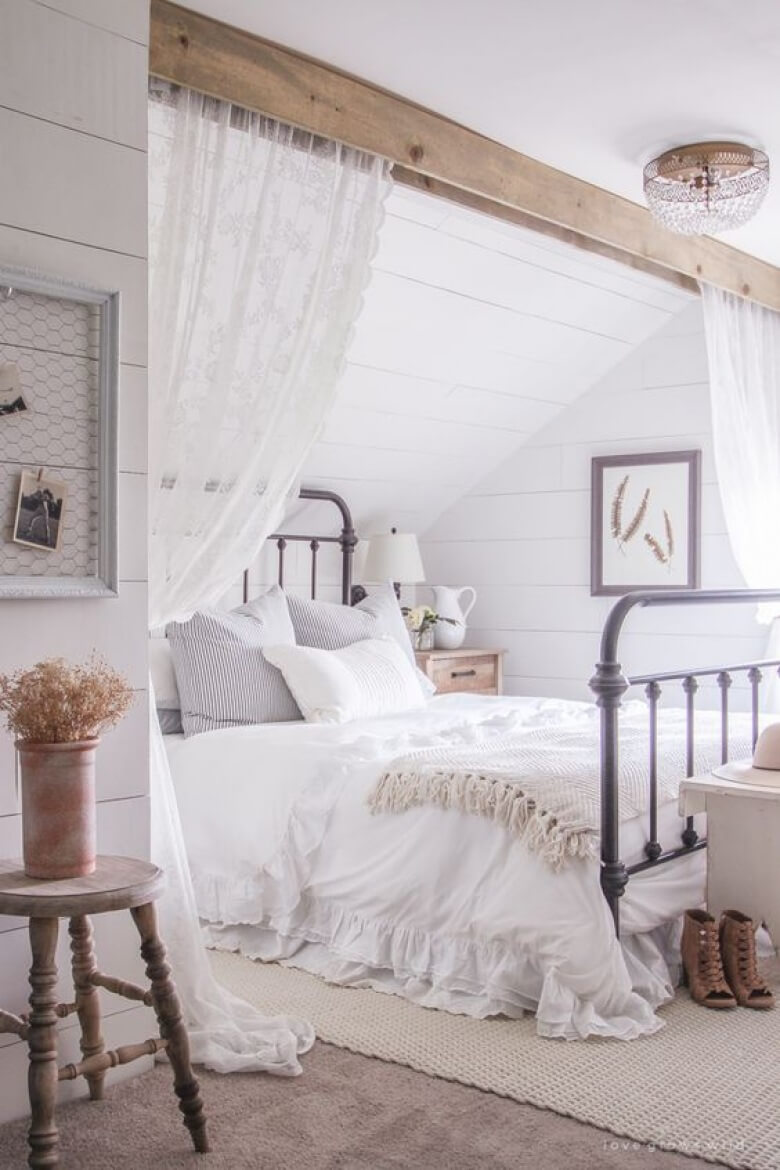 39 best farmhouse bedroom design and decor ideas for 2017 for Bedroom design creator