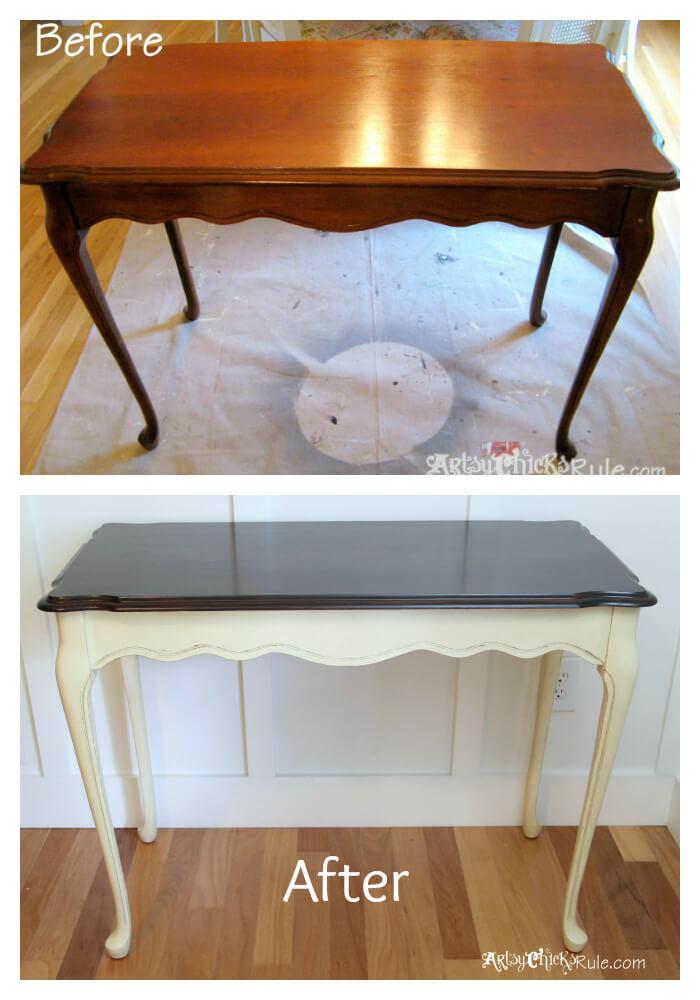 Sleekly Yours Refinished Corridor Table