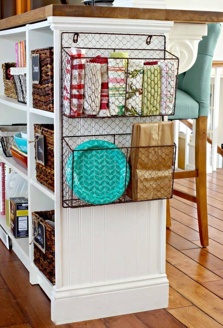 35 Storage Baskets For Your Cabinet Ends