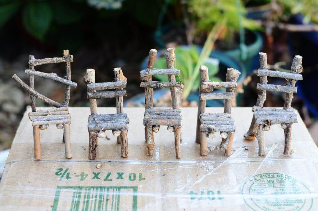 """Little Legs"" Hand Crafted Fairy Chairs"