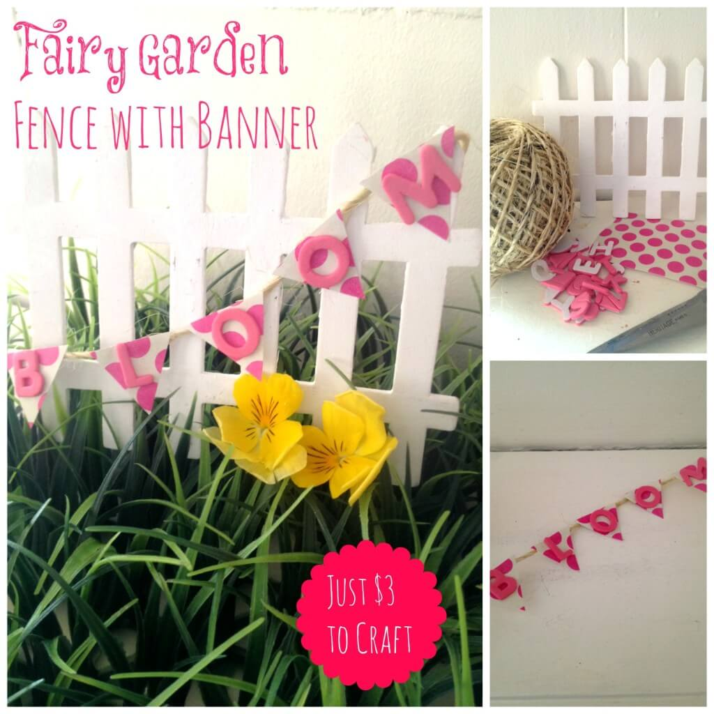 Backyard Party Fairy Banner