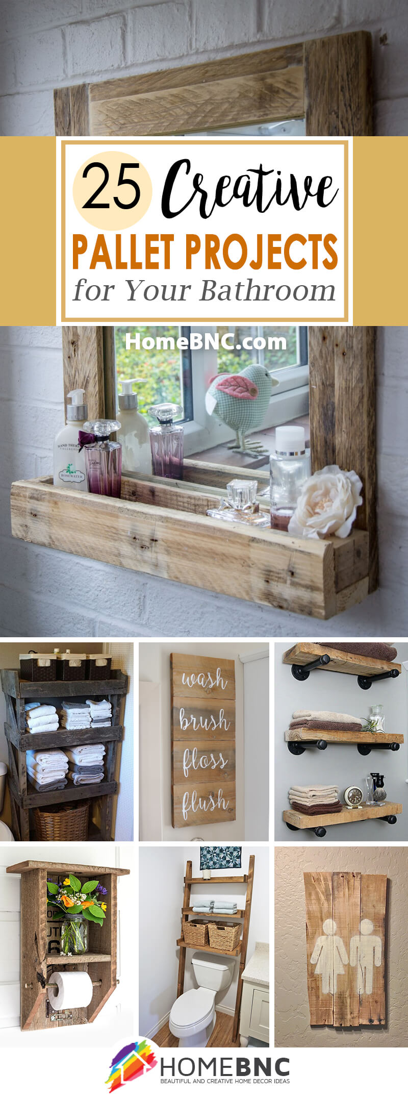 5 Best Bathroom Pallet Projects (Ideas and Designs) for 5