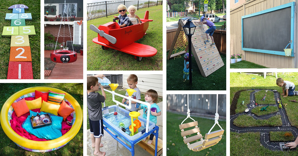34 best diy backyard ideas and designs for kids in 2018 for How to make home decorations