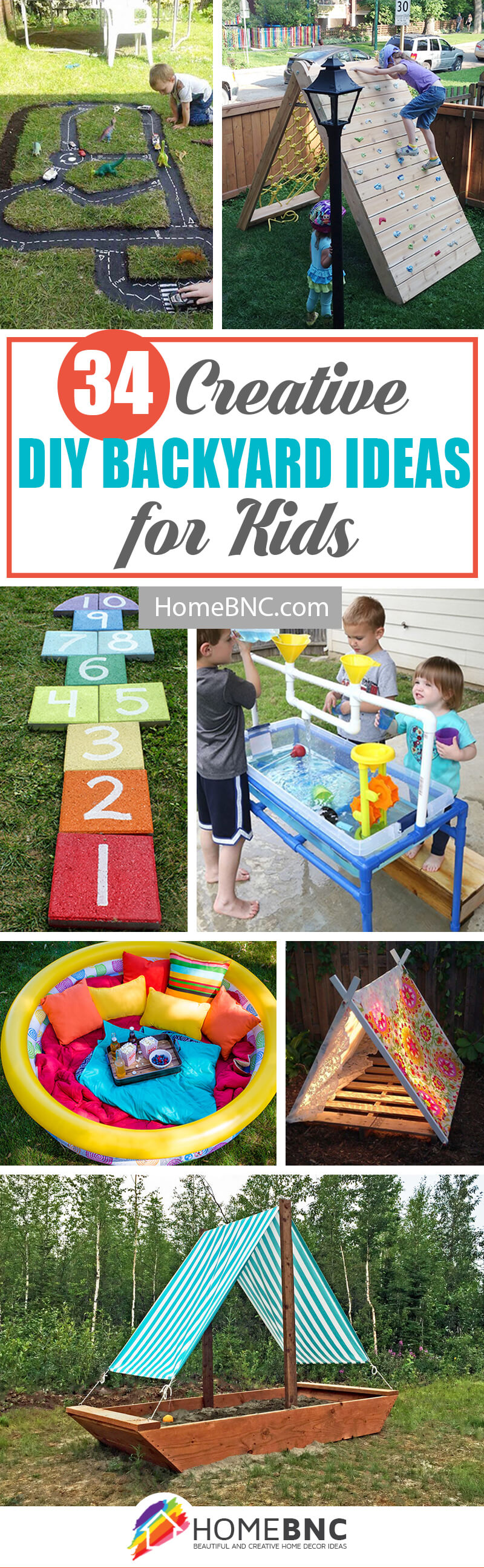 34 Exciting DIY Backyard Ideas For Kids This Summer
