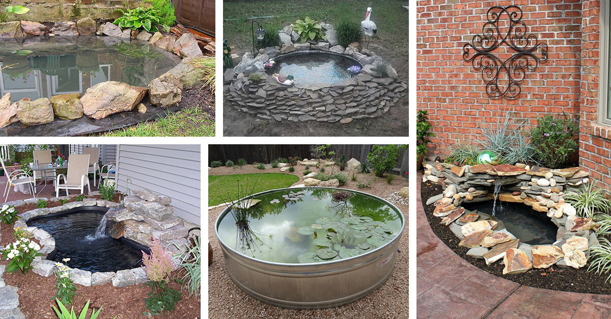 18 best diy backyard pond ideas and designs for 2018 for Diy patio pond