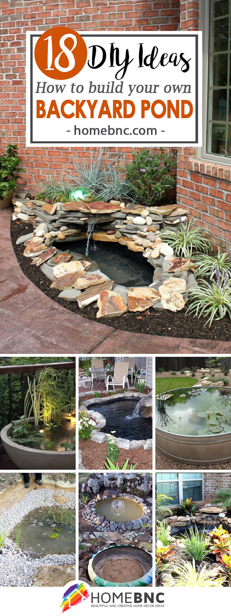 18 best diy backyard pond ideas and designs for 2017 for Simple koi pond