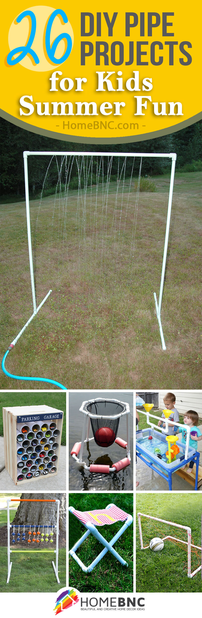 DIY Pipe Projects for Kids Ideas