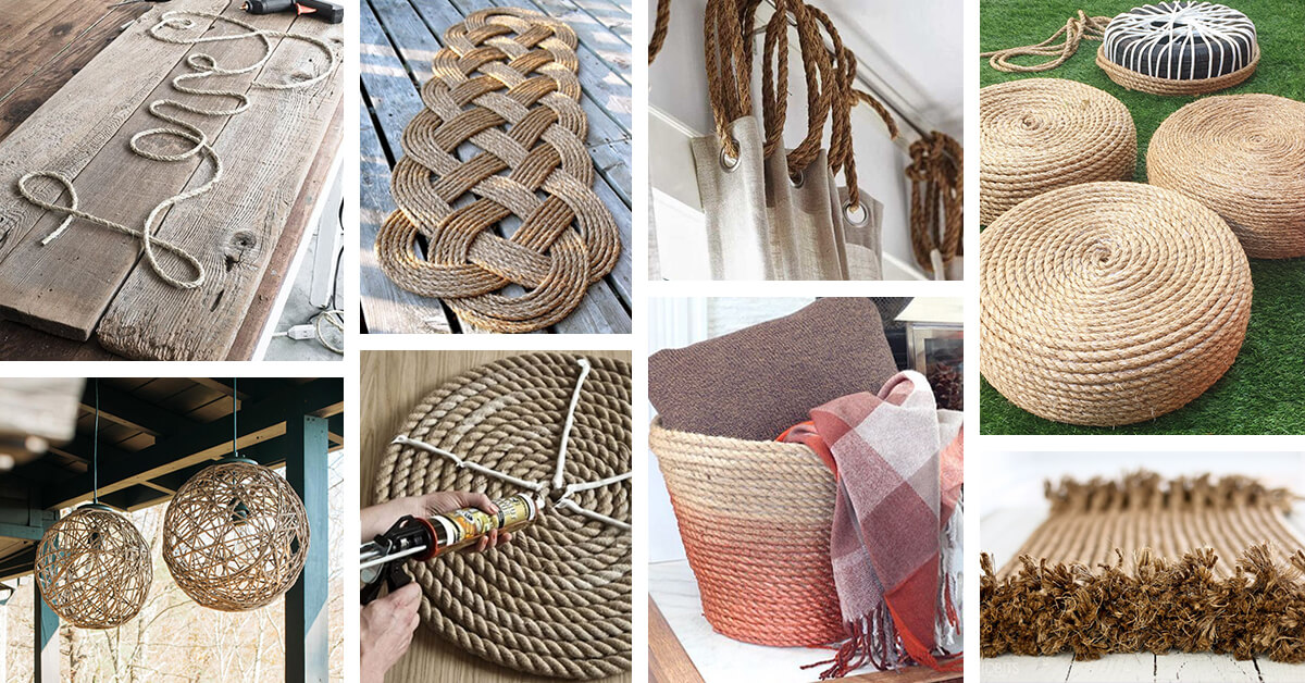 33 best diy rope projects ideas and designs for 2017 for Rope projects