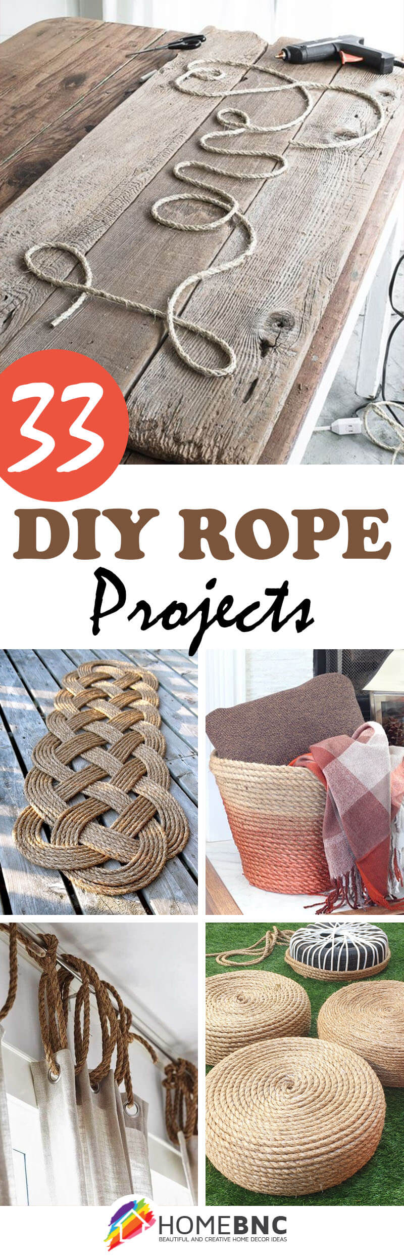 33 Simple DIY Rope Projects To Complete Your Decor