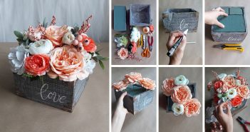 How to Make a DIY Rustic Wood Flower Box