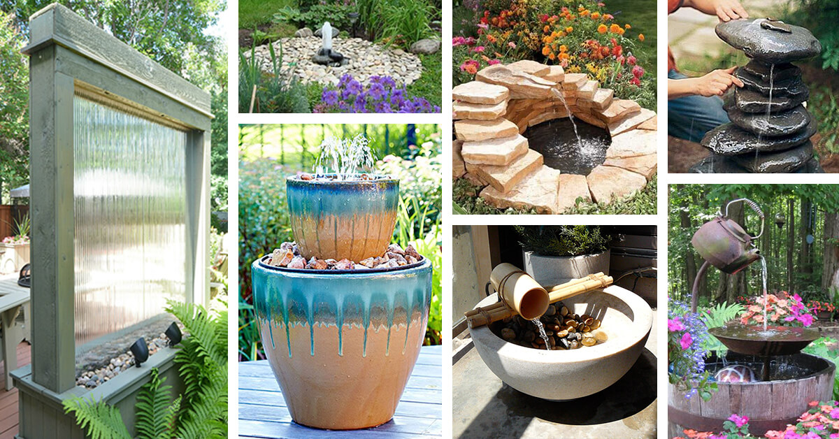 24 Best DIY Water Feature Ideas and Designs for 2020 Rustic Backyard Fountain Ideas on rustic gardening, garden fountains, beautiful backyard fountains, classic backyard fountains, tropical backyard fountains, modern backyard fountains, unique backyard fountains, elegant backyard fountains, large backyard fountains, wood backyard fountains, small backyard fountains, bird baths and fountains,