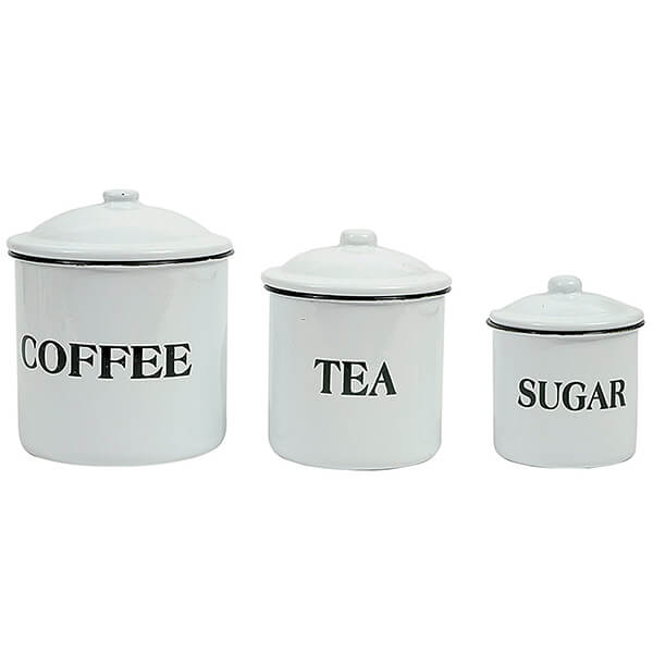 Creative Metal Containers with Lids Set