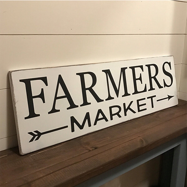 Farmers Market Rustic Sign