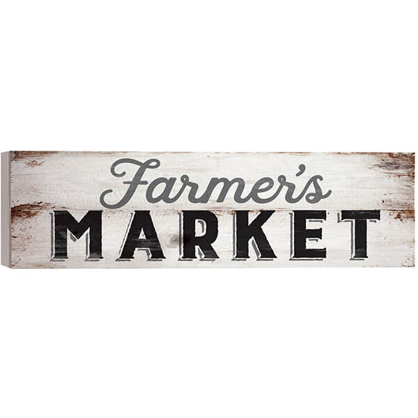 Farmer's Market Distressed Pallet Wall Sign