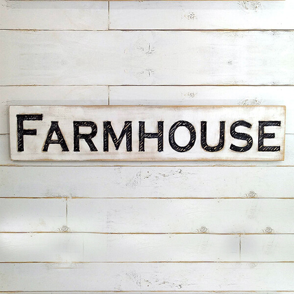 Rustic Farmhouse Style Sign
